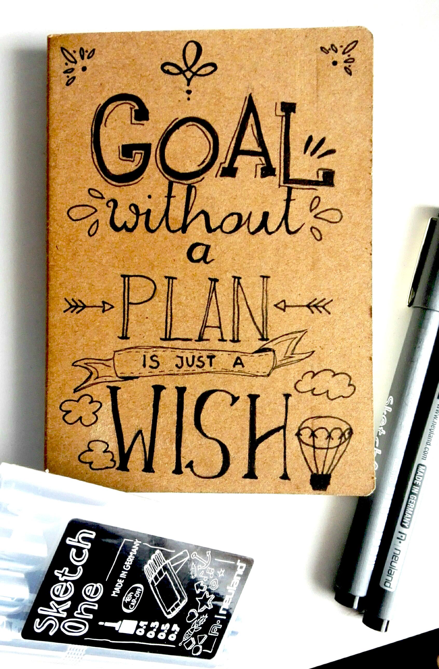 goal without a plan - sketchnoting