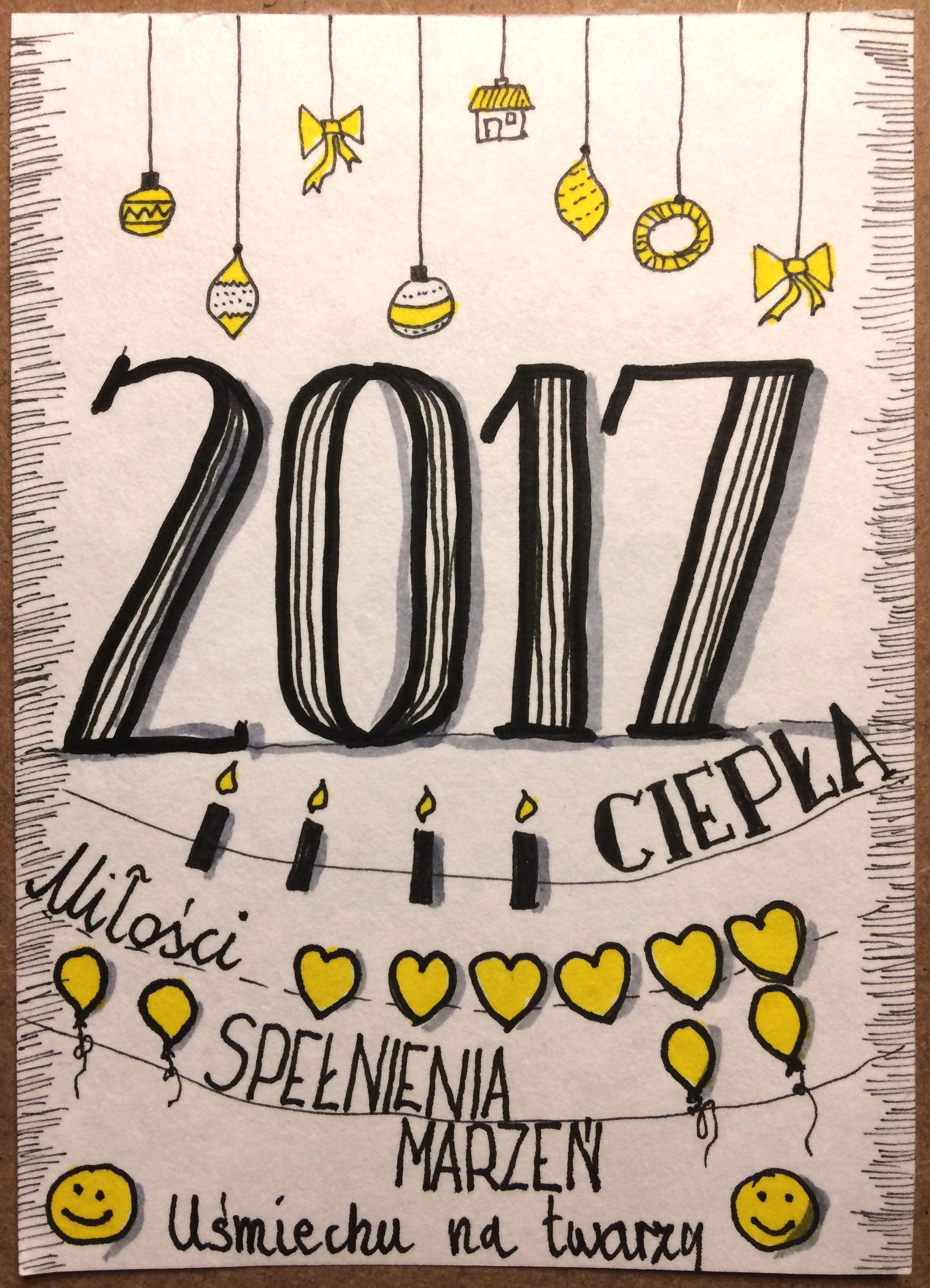 Życzenia noworoczne 2017 sketchnoting