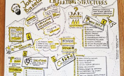 Liberating Structures Management 3.0 sketchnoting